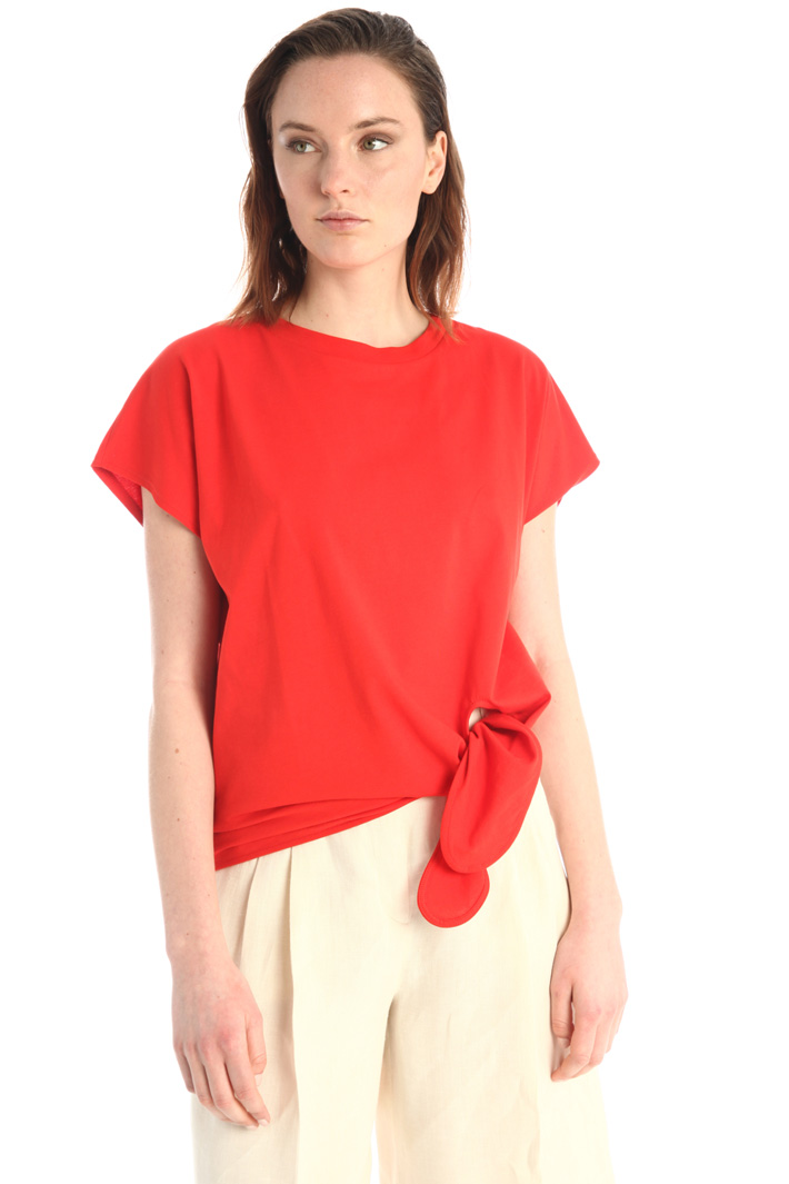 Knotted T-shirt Intrend