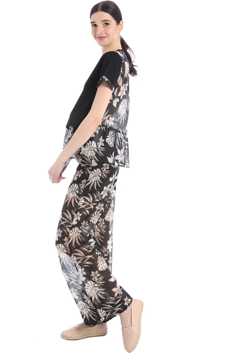 Jersey and muslin top Intrend