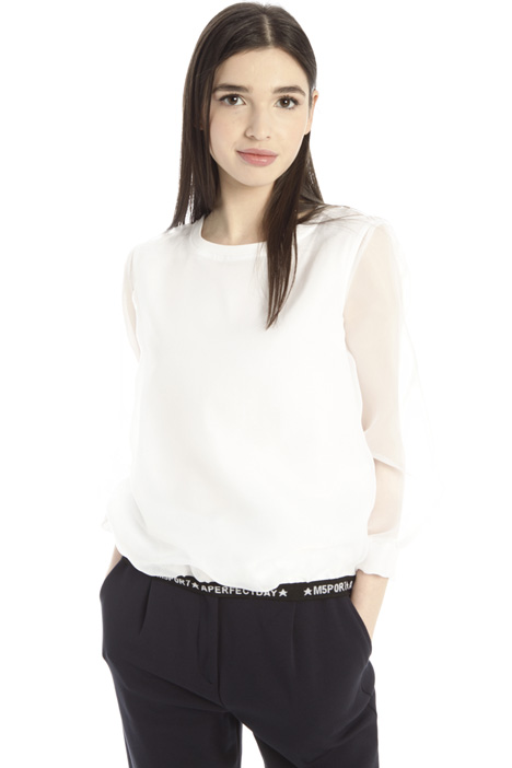 Organza and jersey T-shirt Intrend