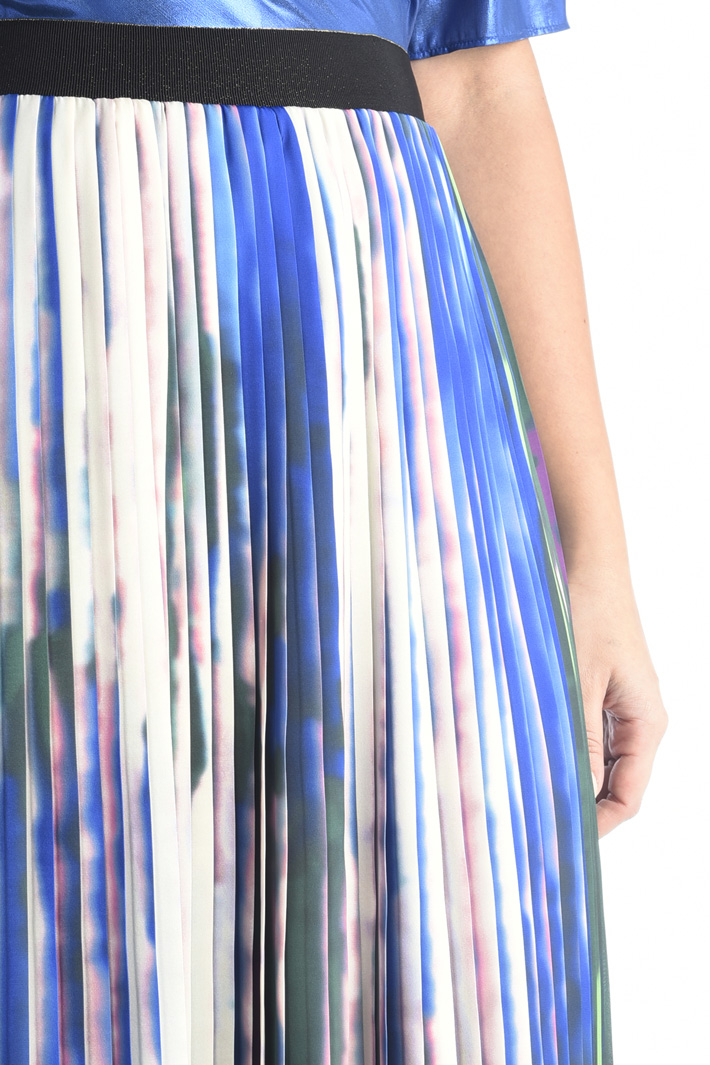 Pleated printed skirt Intrend