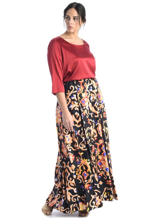 Silk twill skirt Intrend
