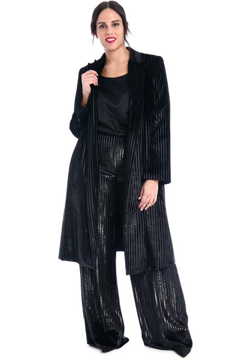 Shiny velvet duster coat Intrend