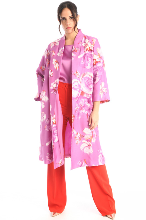 Duster coat in crepe fabric Intrend