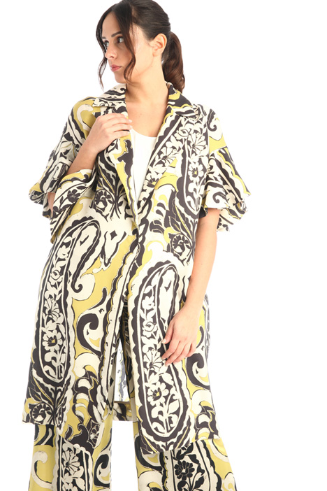 Printed silk duster coat Intrend
