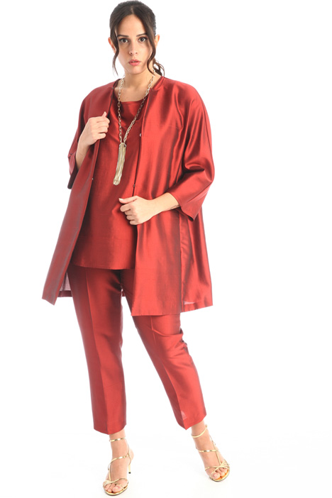 Duster coat in silk shantung  Intrend