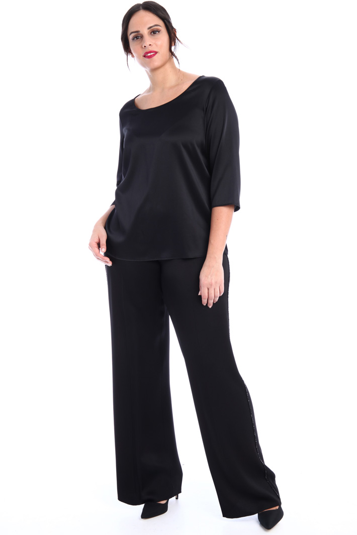 Beaded satin trousers Intrend