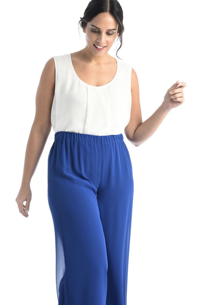 Georgette crepe trousers Intrend