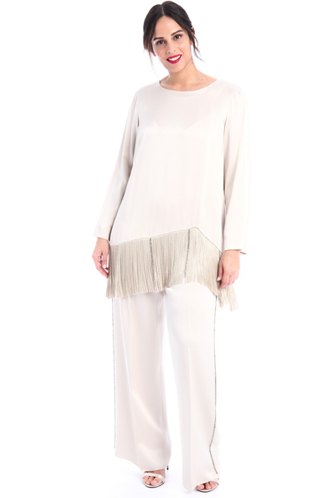 Fringed satin tunic Intrend