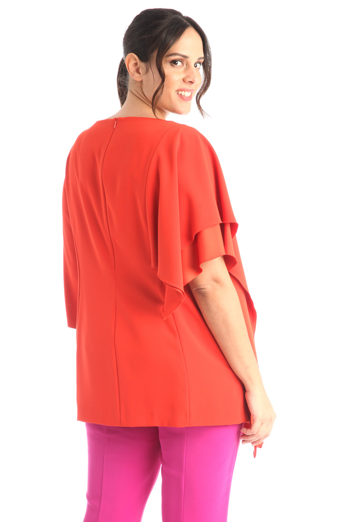 Tunic with flounced sleeves Intrend