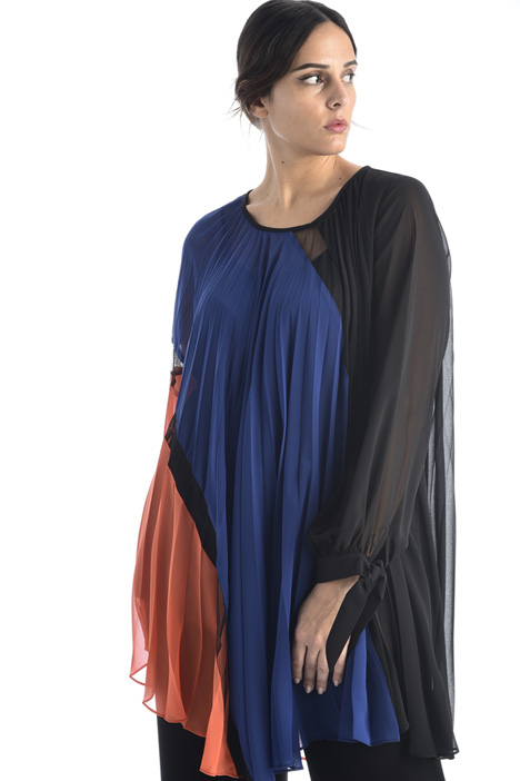 Pleated georgette tunic Intrend