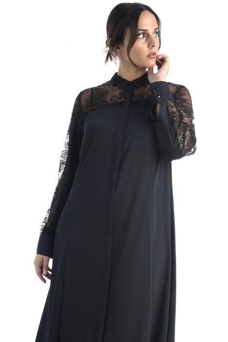 Crepe and lace dress Intrend