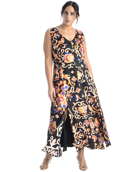 Printed silk twill dress Intrend