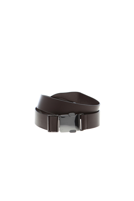 Leather belt with clip buckle  Intrend