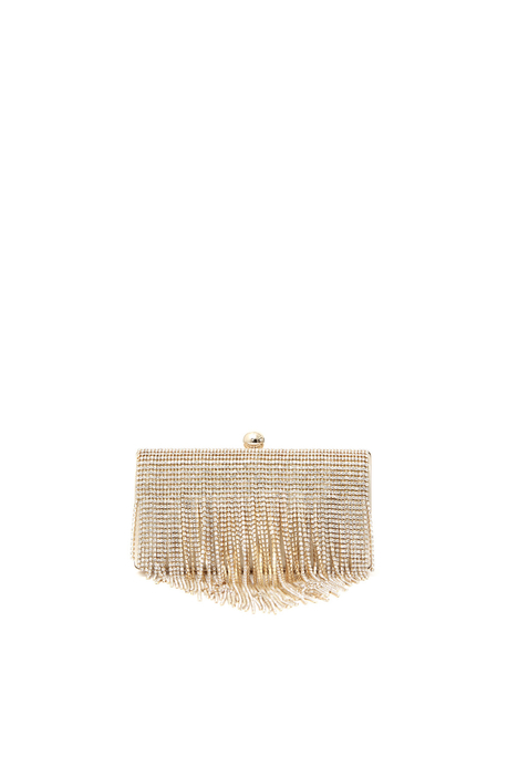 Clutch in raso con strass Intrend