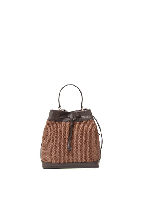 Raffia-effect bucket bag Intrend