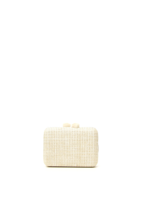 Rigid woven clutch Intrend