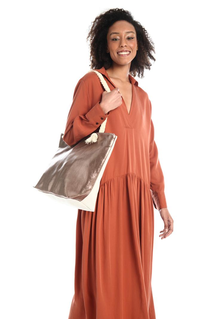 Shopper in tela di cotone Intrend