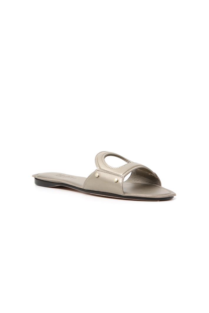 Metallic nappa leather sandals Intrend