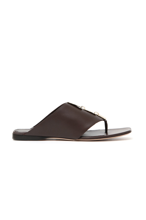 Smooth leather sandals Intrend