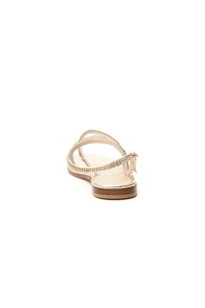Rhinestone leather sandals Intrend