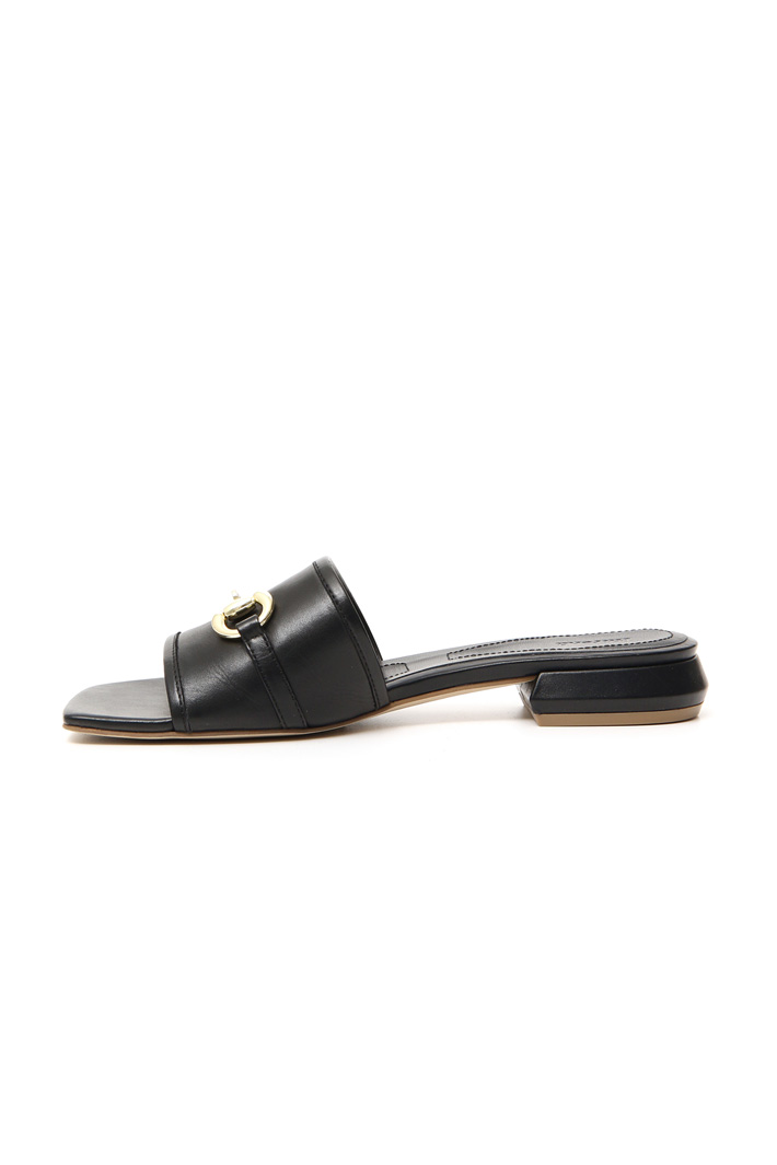 Smooth leather slipper Intrend