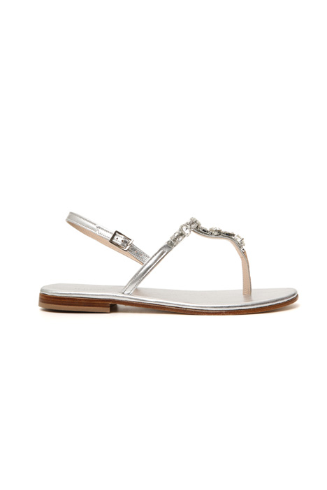 Jewel-detailed sandals Intrend