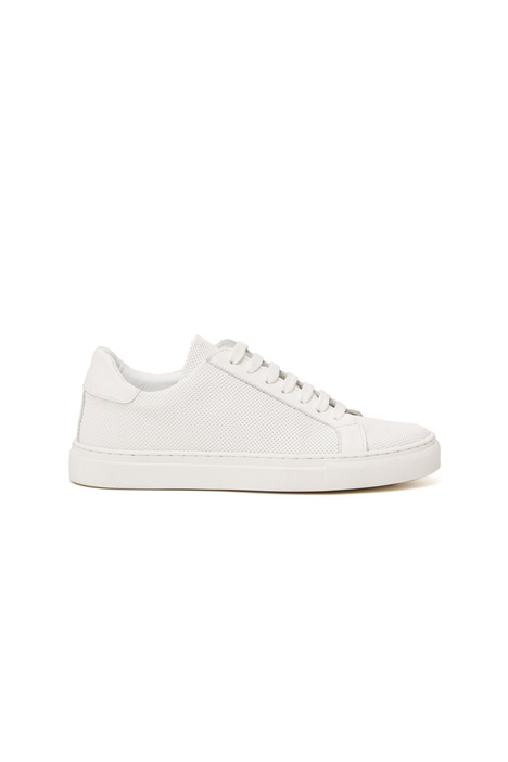 Perforated leather sneakers Intrend