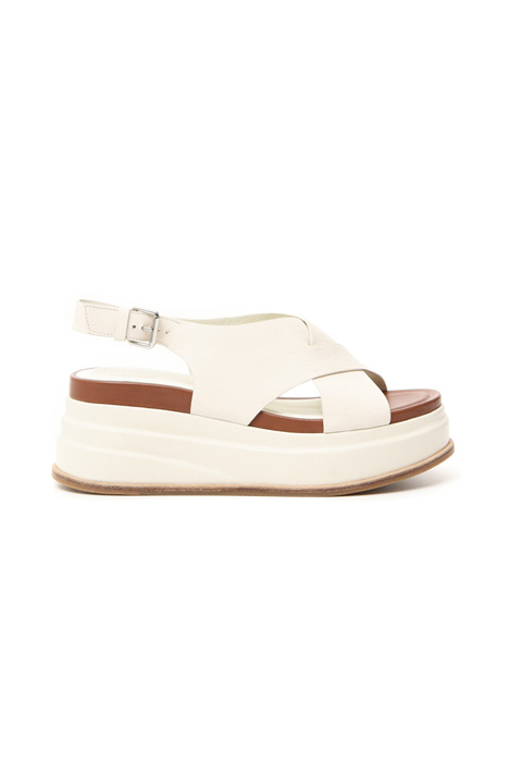 Platform sandals in leather Intrend