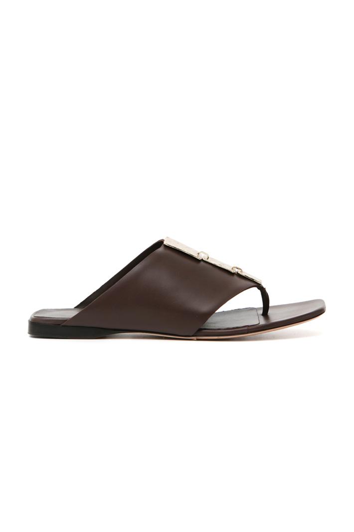 Leather flip flops Intrend