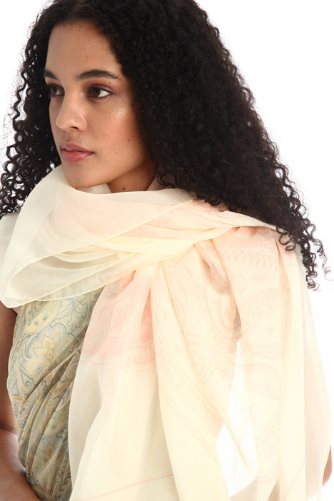 Printed silk stole Intrend