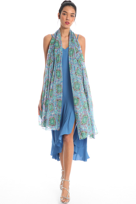 Pleated georgette stole Intrend