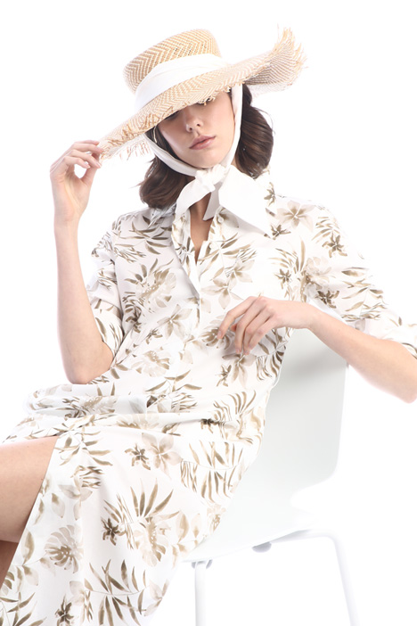 Large trim straw hat Intrend