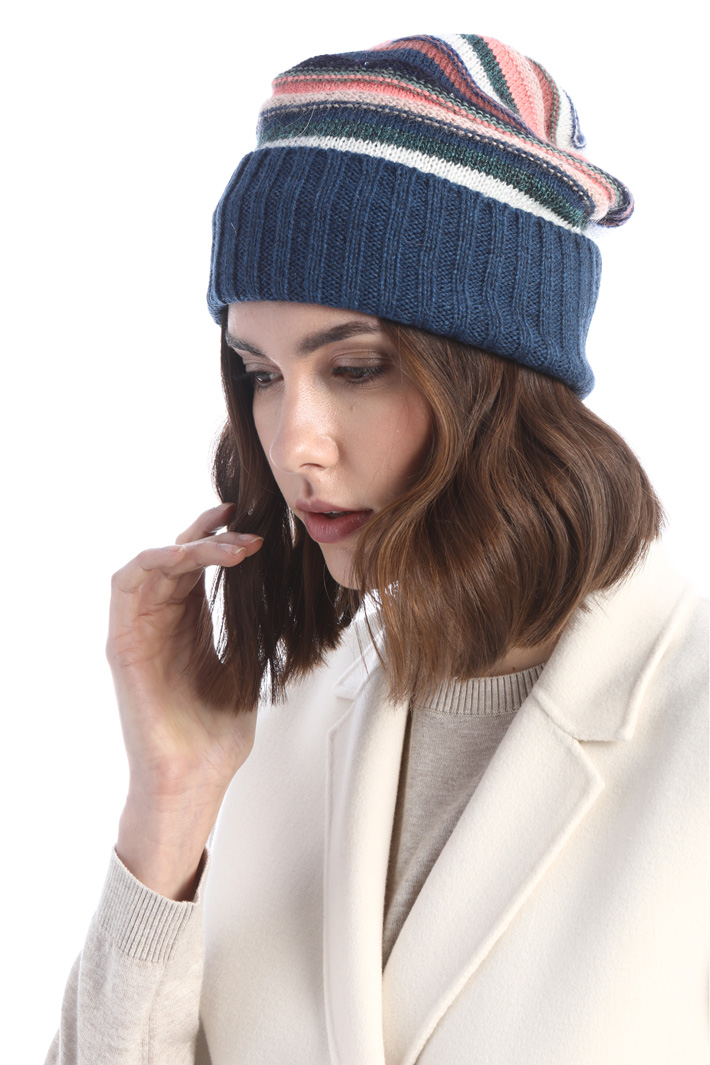 Knit beanie with sequins  Intrend