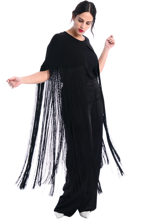 Fringed silk cape Intrend