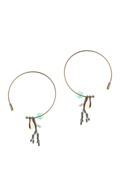 Earrings with charm  Intrend