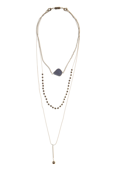 Triple-string necklace  Intrend
