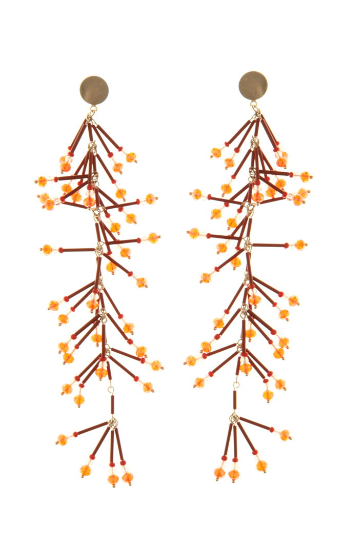 Beaded drop earrings  Intrend