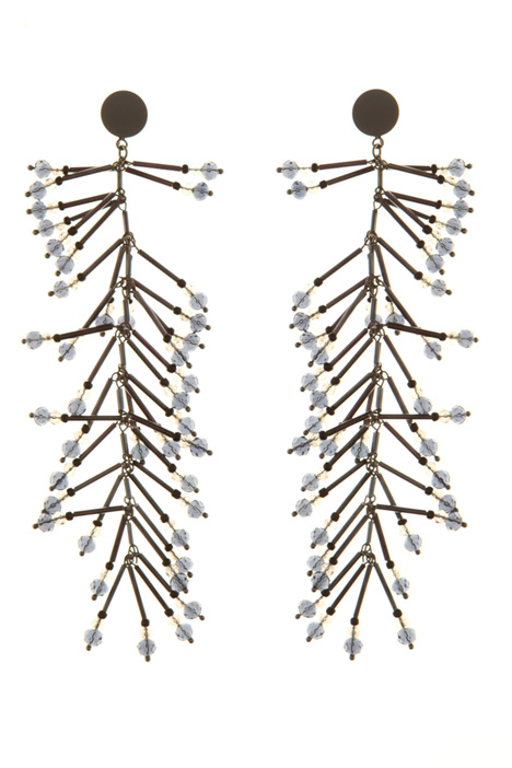 Beaded drop earrings  Intrend