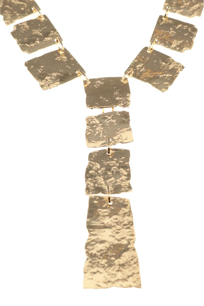 Hammered metal necklace Intrend