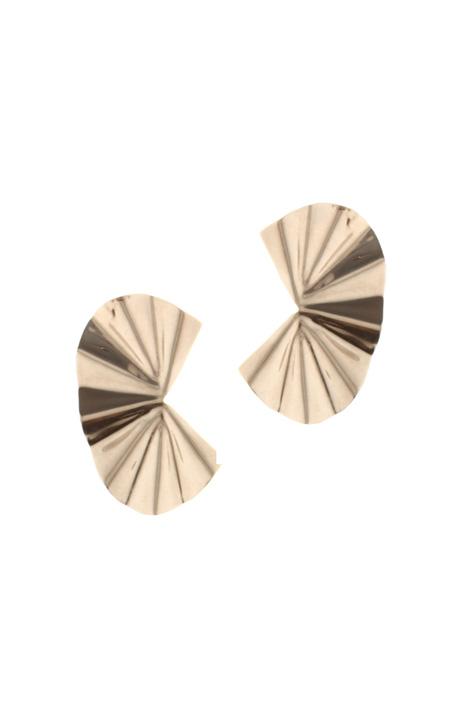 Pleated metal earrings Intrend