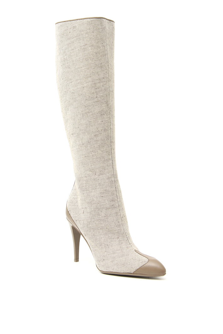 Cotton canvas boots Intrend