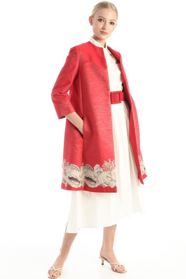 Jacquard duster coat Intrend