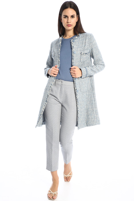 Lurex tweed duster coat Intrend