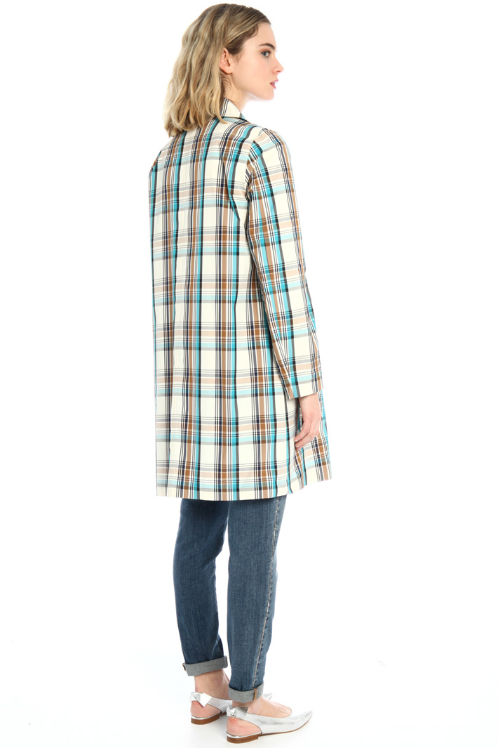 Yarn dyed duster coat Intrend
