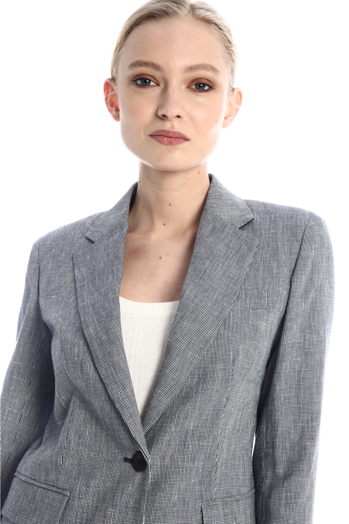 Blazer in cotton and linen Intrend
