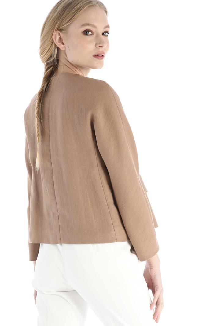 Interwoven cotton blend jacket Intrend