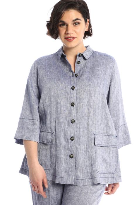 Loose fit linen shirt  Intrend
