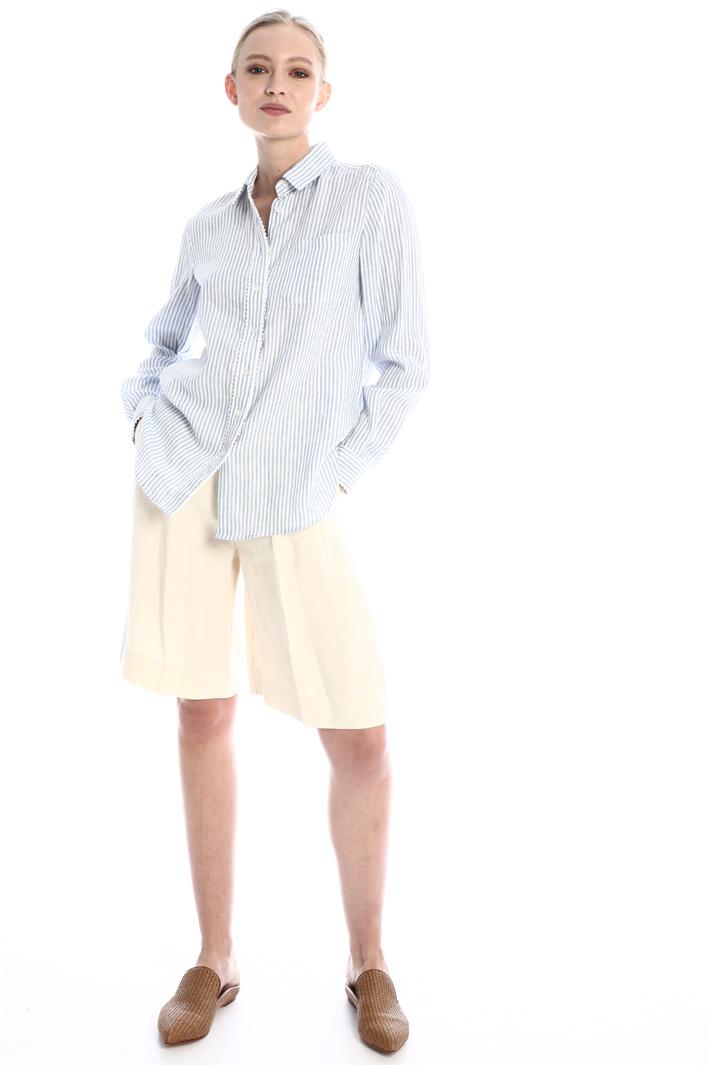 Linen canvas shirt Intrend