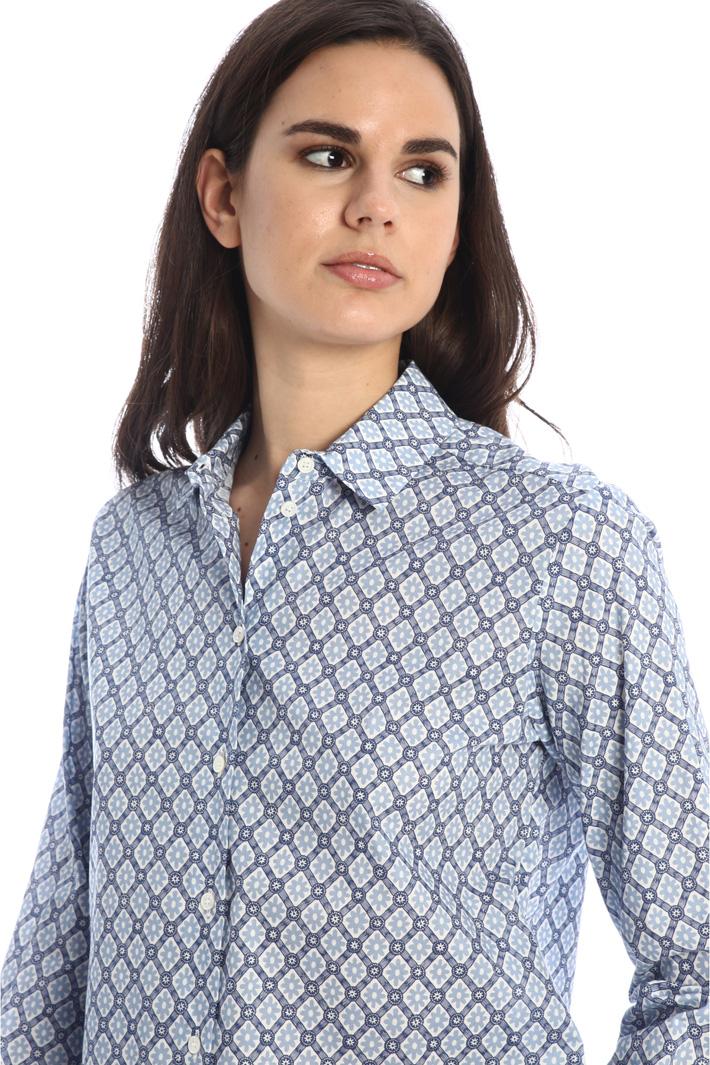 Printed cotton poplin shirt Intrend