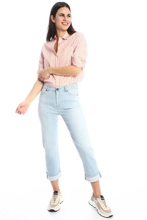 Yarn dyed poplin shirt Intrend